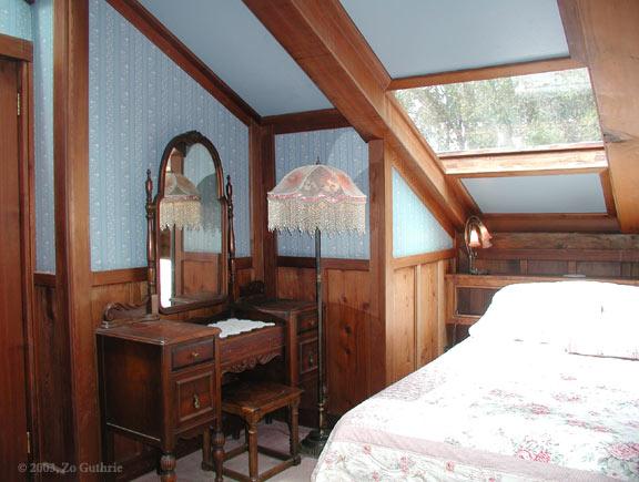 Blue Balcony Room Bed