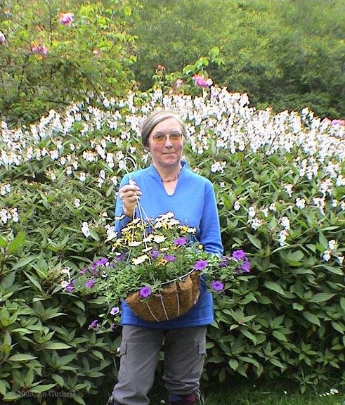 Sally in the garden